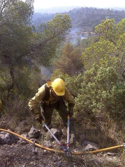 Brigades a l'incendi  forestal de Benaguasil