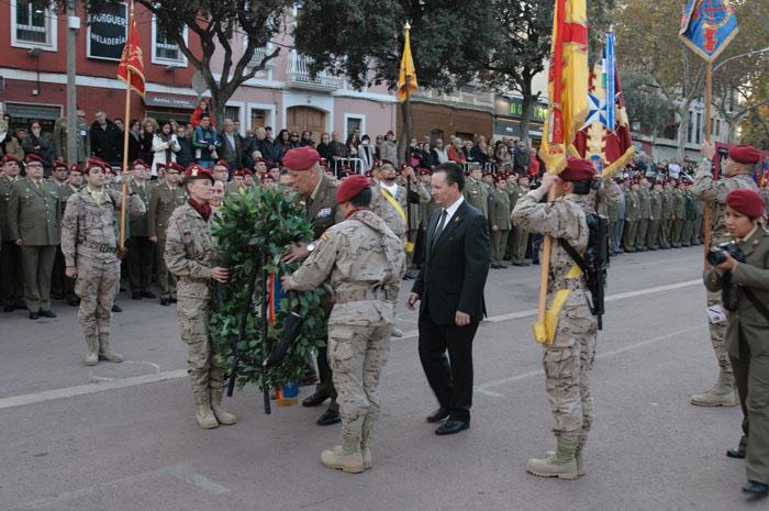 Militares durante el desfile.