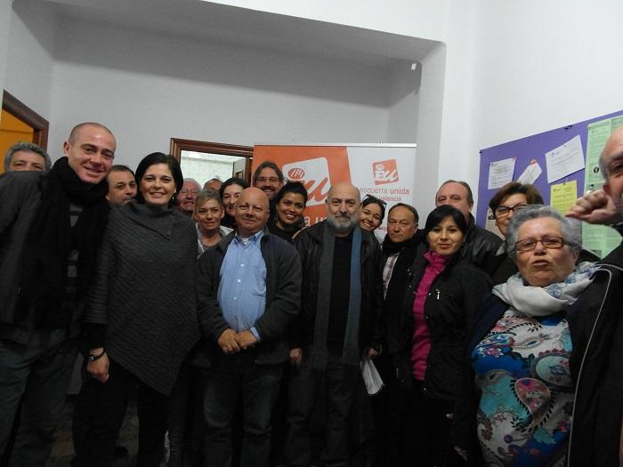 Los candidatos de EU por Bétera, en el acto de presentación de la lista municipal.