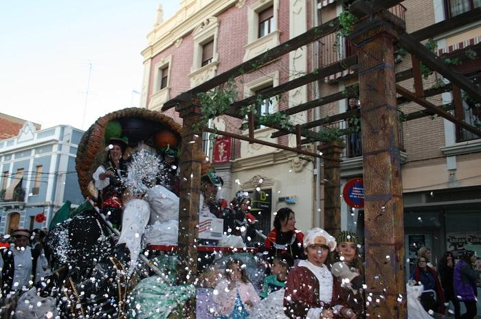 Una de las carrozas de la cabalgata de los Reyes Magos en Bétera.
