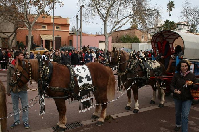 Los caballos cerraron el acto de bendición de animales en la Alameda.