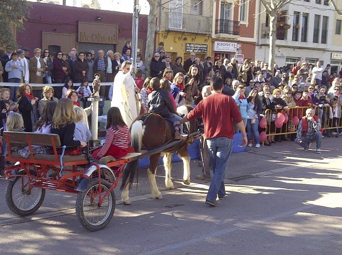 Bendición de animales en las fiestas de Sant Antoni del pasado año.