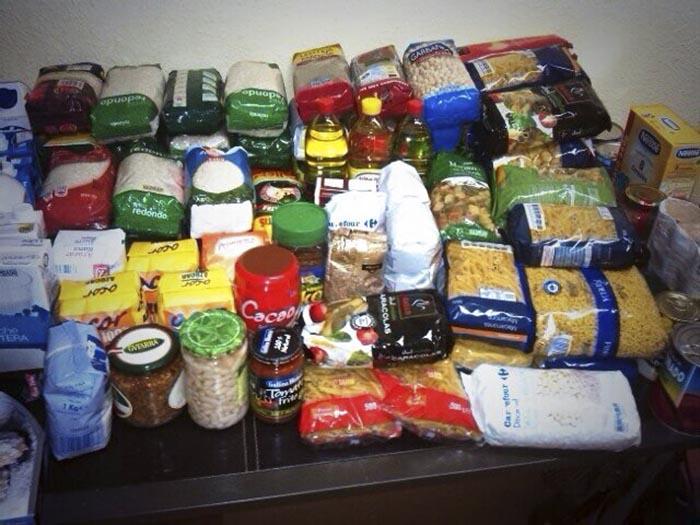 Alimentos entregados en el Partido de la Selección de Fútbol Comarcal del Camp de Túria