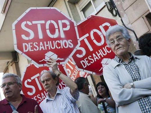 Protestas contra los desahucios.