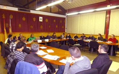 Imatge de la reunió de la Mancomunitat.