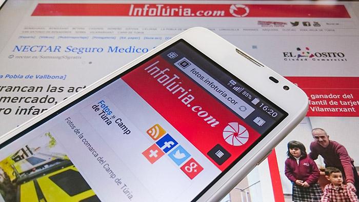 Nou diseny de la web d'InfoTúria.com periódic del Camp de Túria