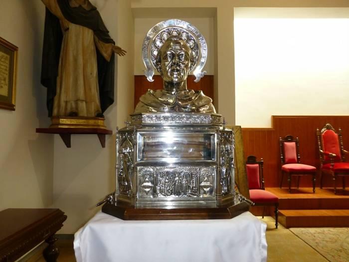 Relicario con los restos de San Vicente Ferrer que estará en L'Eliana.
