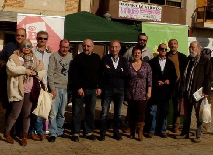 Miembros de 'Sumem per L'Eliana' en un acto público en el municipio.