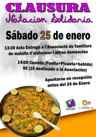 Cartell del dinar de la iniciativa 'Natación Solidaria'.
