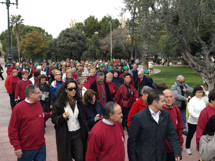 Imagen de la marcha saludable.