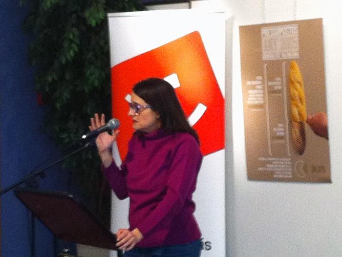 Mónica oltra, ayer en la Casa de la Cultura de La Pobla de Vallbona.