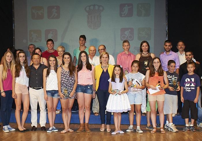 Los premiados en la Gala del Deporte del pasado año.