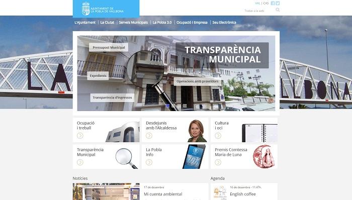 La web del Ayuntamiento de La Pobla estrena nueva imagen y contenidos.