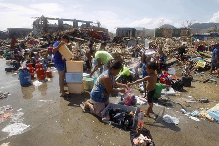 Desastre causat pel tifó
