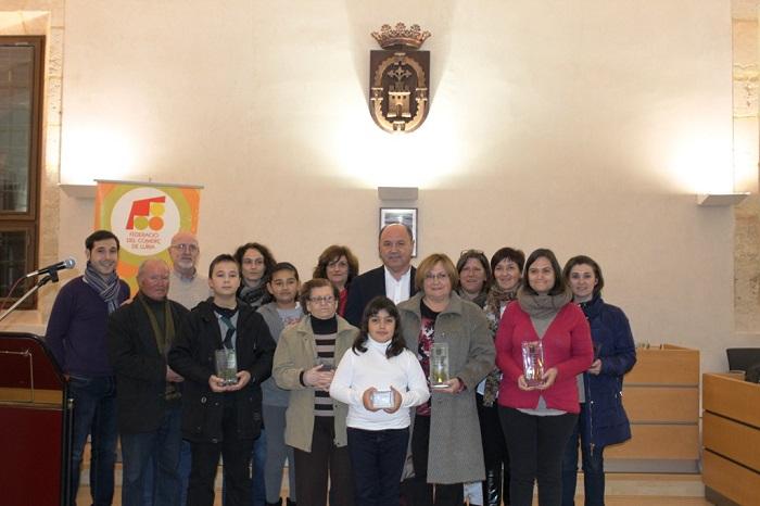 Premiados en el concurso de belenes organizado por el Ayuntamiento.