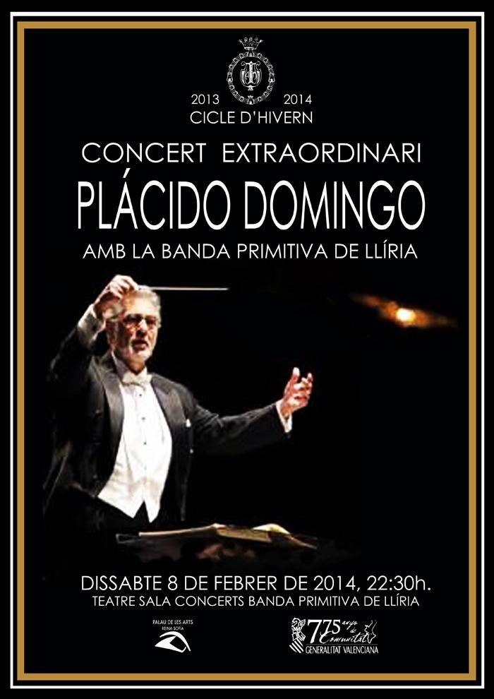 Plácido Domingo dirigirá a la Banda Primitiva