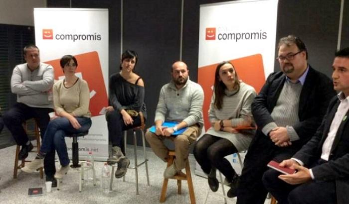 Los candidatos de Compromís per Llíria, en el acto de presentación.