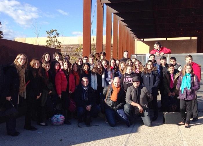 Los alumnos del Conservatorio de Lliria que han actuado en Pozuelo de Alarcón.