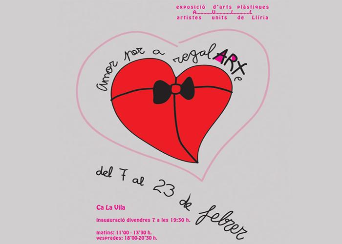 Cartell promocional exposició 'Amor para regalarte'.
