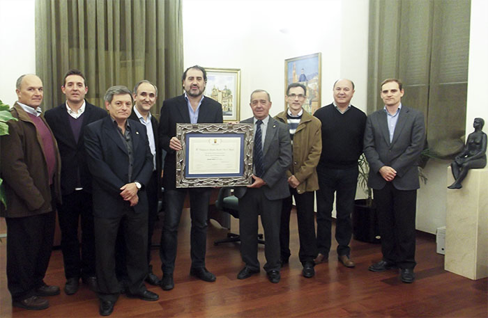 Recepción de la Banda Primitiva en el Ayuntamiento de Llíria