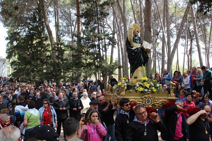 Imagen de San Vicente Ferrer en la peregrinación de ayer en Llíria.