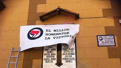 Simbols franquistes a Nàquera