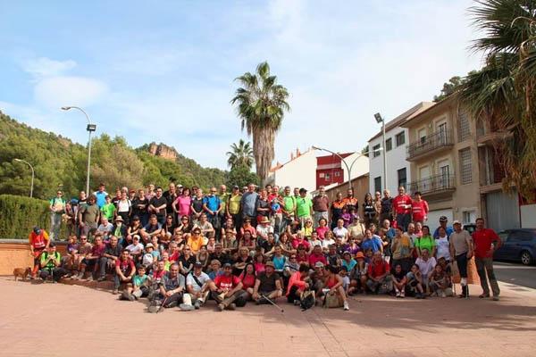Participantes de la XXI Marcha sierra Calderona