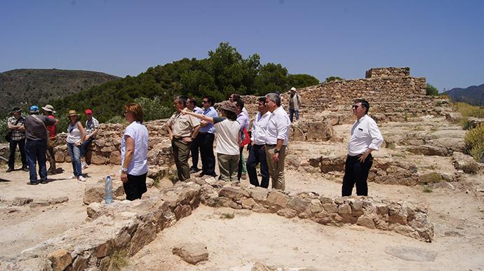 Yacimiento arqueológico Puntal dels Llops en Olocau.