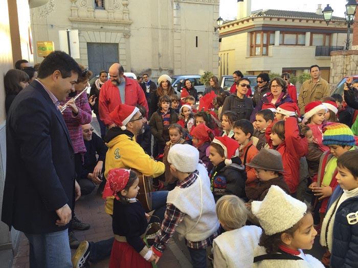 Uno de los actos navideños celebrados en Olocau.