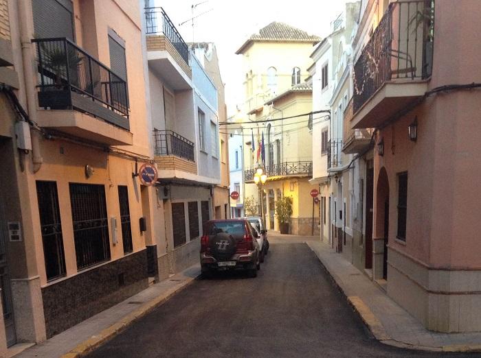 Una de las calles asfaltadas dentro del plan de mejora del municipio.