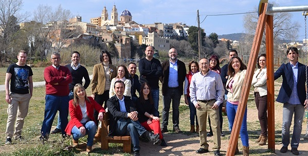 Miembros de la candidatura del PSPV de Riba-roja de Túria para las elecciones municipales del 24 de mayo.
