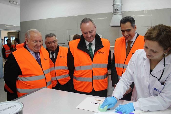 Fabra, ayer en las instalaciones de la empresa ISAVAL.