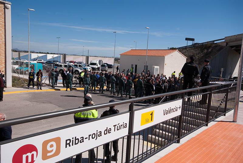 Protestas en el Metro de Riba-roja