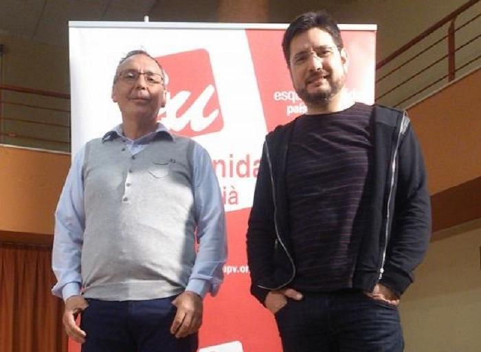 Marcos Cabo e Ignacio Blanco, en el acto de presentación de la candidatura en Serra.