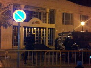 Seu del PP a València fortament custodiada