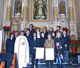 Representants de la Unió Músical en l'Esglesia del Remei de Llíria el Camp de Túria