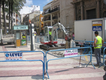 Obras Plaza Mayor de Llíria El Camp de Túria