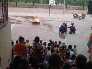 Simulacro de extinción de incendios en Llíria el Camp de Túria