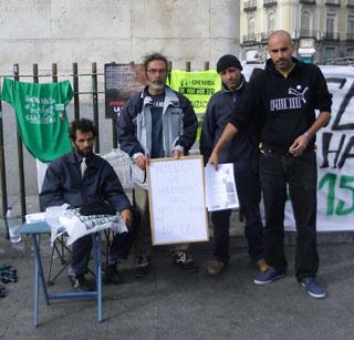 huelga de hambre juan sanchez en plaza sol