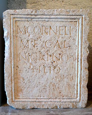 lápida romana el camp de turia