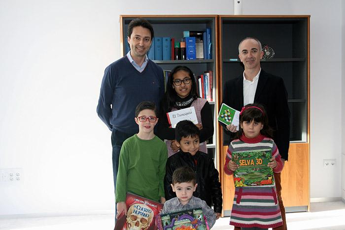 Entrega premio infantil de tarjetas de Navidad en Vilamarxant