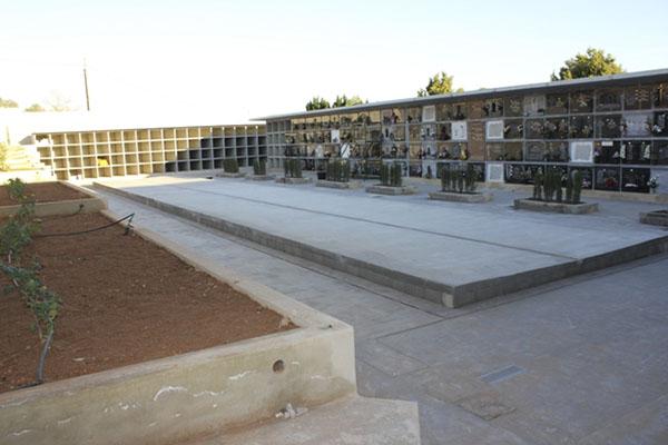Obras de ampliación del cementerio de Vilamarxant.