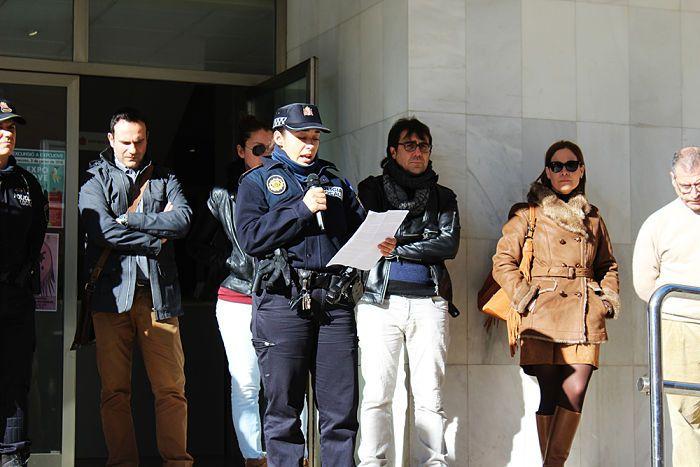 Un moment de la lectura del manifest a Vilamarxant.