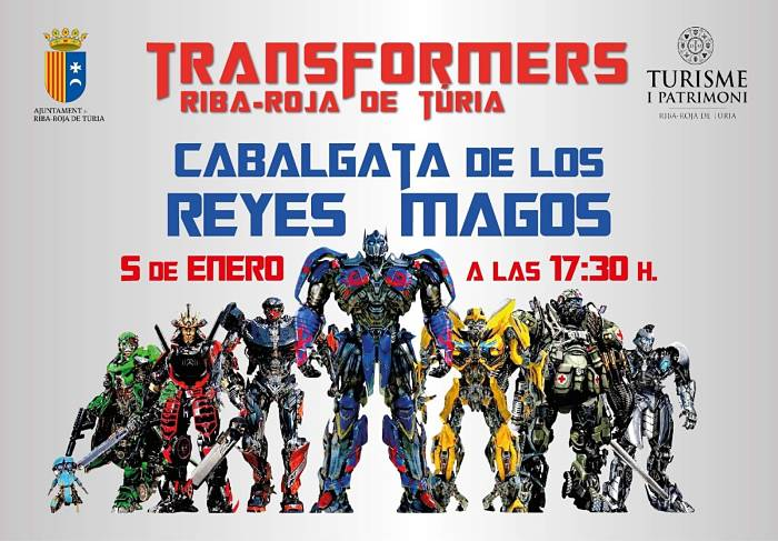 Cabalgata de Transformers Ribarroja Camp de Túria