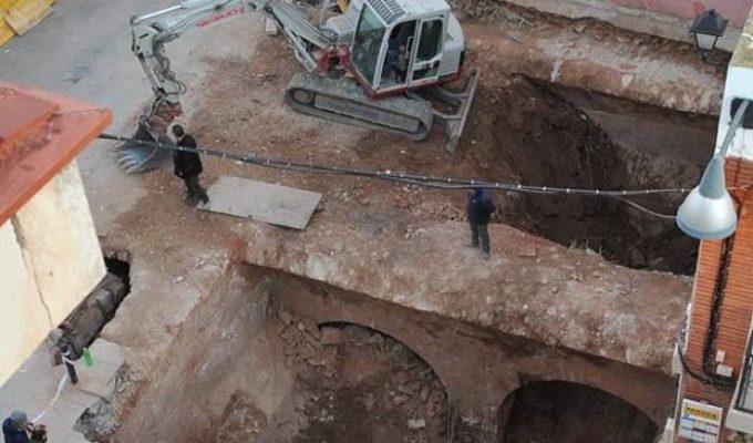 Obras en la cisterna Camp de Túria