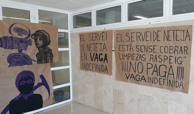 huelga de limpieza institutos camp de turia