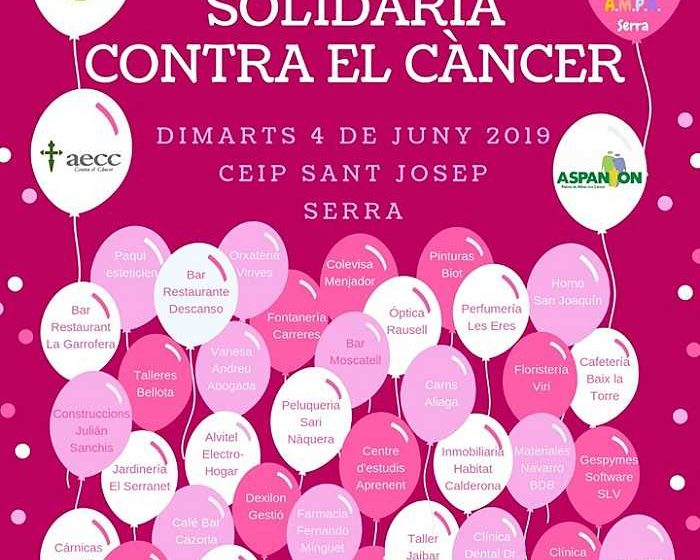 cartel contra el cancer camp de turia