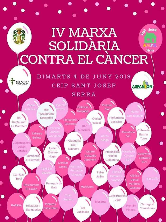 cartel contra el cancer camp de turia