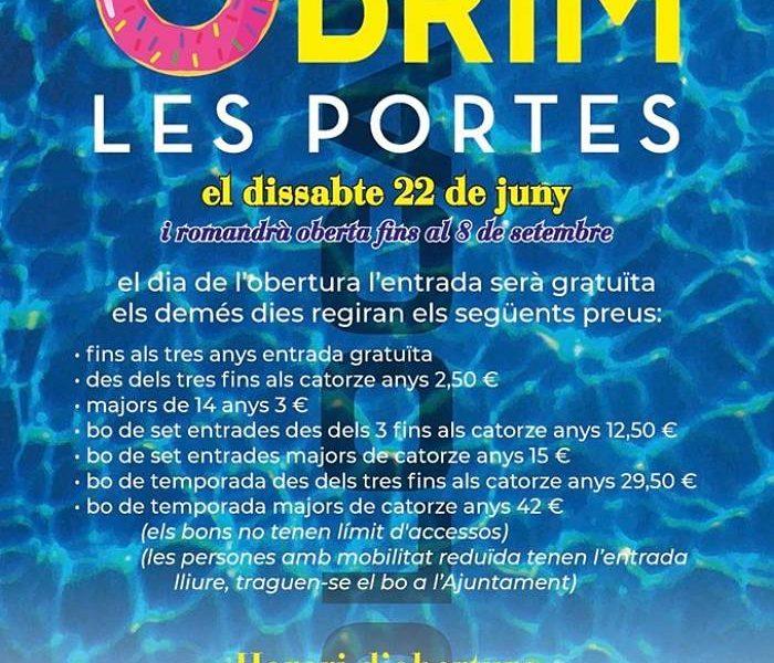 cartell piscina 2019 olocau camp de túria