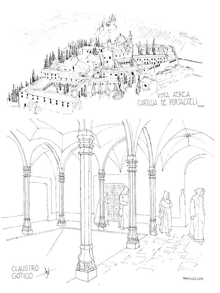 Cartuja Portacoeli dibujo